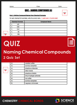 Quiz - Naming Compounds (2 Quiz Set)