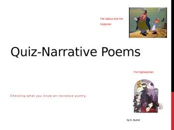 Quiz--Narrative Poems