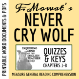 Never Cry Wolf Quiz (Ch. 1-8) - Farley Mowat
