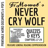 Never Cry Wolf Quiz (Ch. 17-24) - Farley Mowat