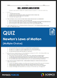 Quiz - Newton's Laws of Motion (Multiple Choice)