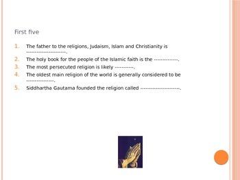 Quiz On Comparative Religions