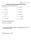 Quiz Operations with Rational Numbers