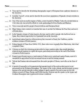 Quiz - POLITICAL TRANSFORMATIONS: EMPIRES AND ENCOUNTERS, 1450–1750