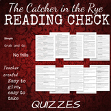 Catcher in the Rye (Salinger) Quiz Packet
