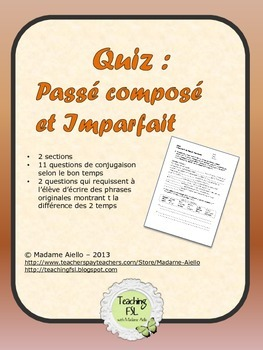 Quiz - Passé Composé et Imparfait
