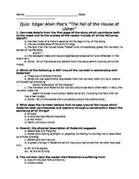 Quiz - Poe's Fall of the House of Usher