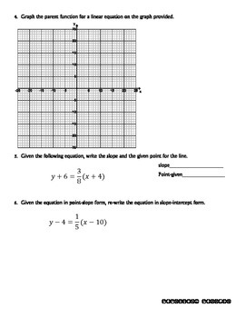 Quiz - Point-Slope Form of a Line - PP