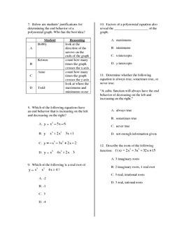 Quiz: Polynomial Functions
