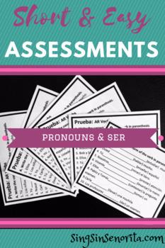 Quiz: Pronouns and SER