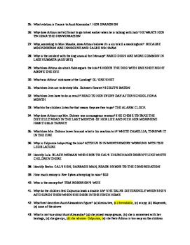 Quiz Questions for To Kill A Mockingbird