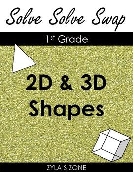 Quiz Quiz Trade: 2D & 3D Shapes