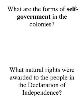 Quiz Quiz Trade American Revolution