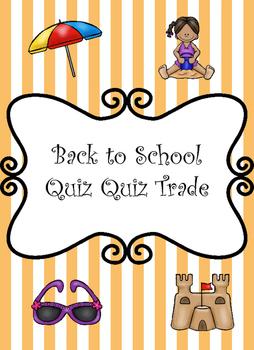 Kagan Quiz-Quiz-Trade Beginning of the Year Activity
