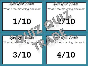 Quiz Quiz Trade - Benchmark Decimals and Fractions