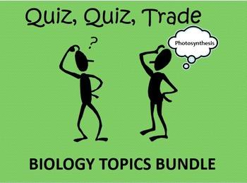 Quiz, Quiz, Trade Biology Topics Bundle