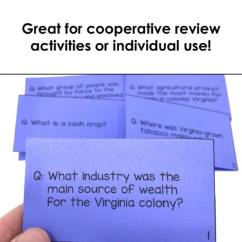 Virginia Studies Flash Cards Bundle