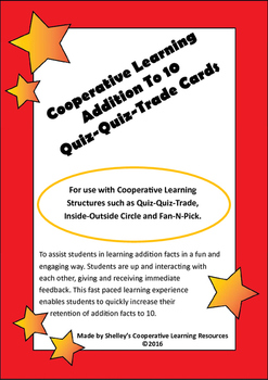 Quiz Quiz Trade Cards - Addition Facts To 10