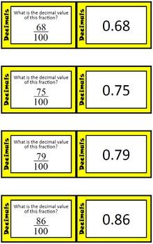 Quiz Quiz Trade Cards - Decimals and Fractions