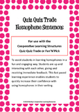 Quiz Quiz Trade Cards - Homophone Sentences