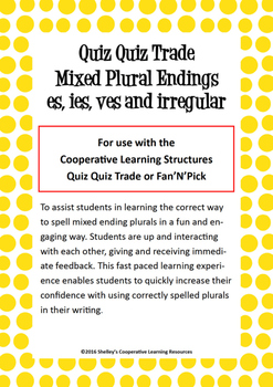 Quiz Quiz Trade Cards - Mixed Plural Endings