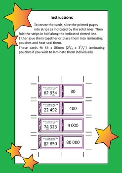 Quiz Quiz Trade Cards - Place Value To 99