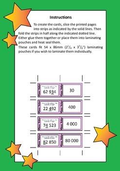 Quiz Quiz Trade Cards - Place Value To 9,999