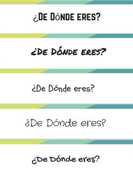 Quiz Quiz Trade Cards featuring De dónde eres - w/ Geography Extension Activity