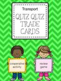 Quiz Quiz Trade Cards for the Transport Unit (Kagan Activity)