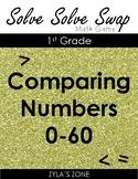 Quiz Quiz Trade: Comparing Numbers to 60