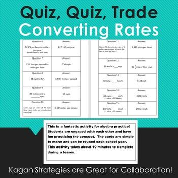 Quiz, Quiz, Trade: Converting Rates