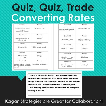 Quiz, Quiz, Trade: Converting Rates