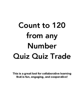 Quiz Quiz Trade Count to 120 From Any Number
