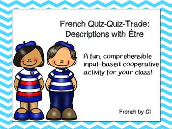 French Être: Quiz Quiz Trade