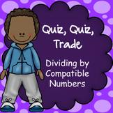 Dividing Multiples of Ten, Quiz Quiz Trade Game