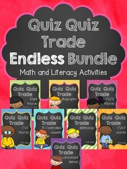 Quiz Quiz Trade ENDLESS Growing Bundle (Math & Literacy)