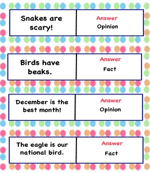 Quiz Quiz Trade - Fact and Opinion