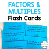 Factors and Multiples Question & Answer Cards