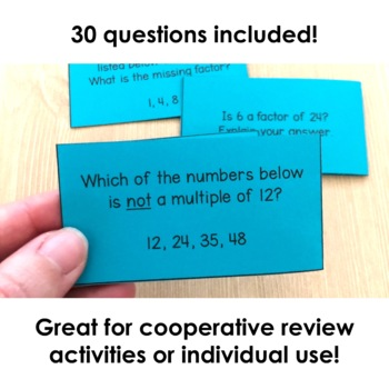 Factors and Multiples Flash Cards