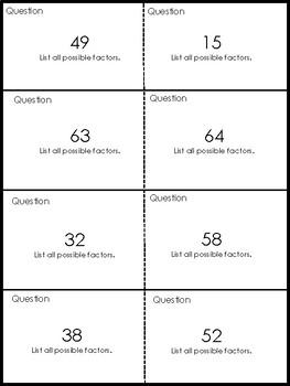 Quiz Quiz Trade Finding Factors