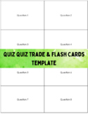 Quiz-Quiz-Trade & Flashcard Template for Double-sided Printing