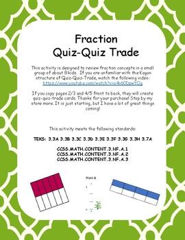 Quiz Quiz Trade Fractions TEKS 3.3A 3.7A