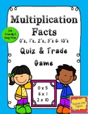 Quiz, Quiz, Trade Game for Multiplication facts 0's, 2's,