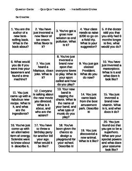 Quiz Quiz Trade- Get to Know You Cards