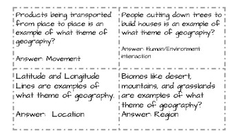 Quiz Quiz Trade--History Alive--Geography & Native American Review History Alive