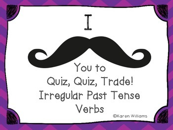 Quiz, Quiz, Trade - Irregular Past Tense Verbs