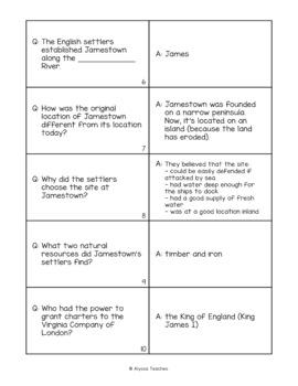 Jamestown Flash Cards (VS.3)