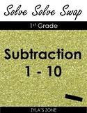 Quiz Quiz Trade Math Subtraction 1 - 10