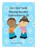 Quiz Quiz Trade Missing Number Subtraction to 20
