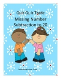 Quiz Quiz Trade Missing Number Subtraction to 20
